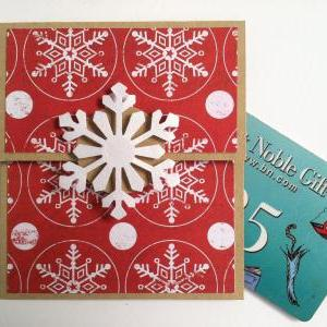 Snowflake Gift Card Holder, Christm..