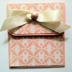 Elegant Gift Card Holder, Peach Gif..