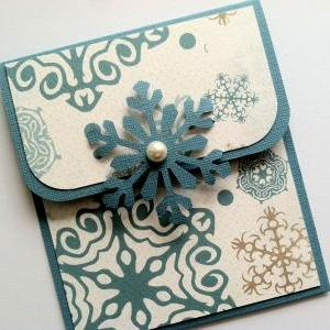Holiday Gift Card Holder - Blue Sno..