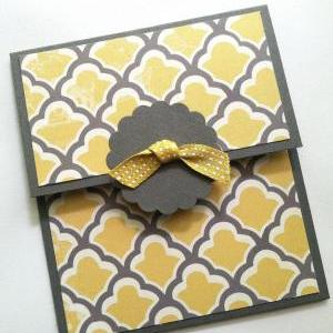 Gift Card Holder, Yellow and Gray G..