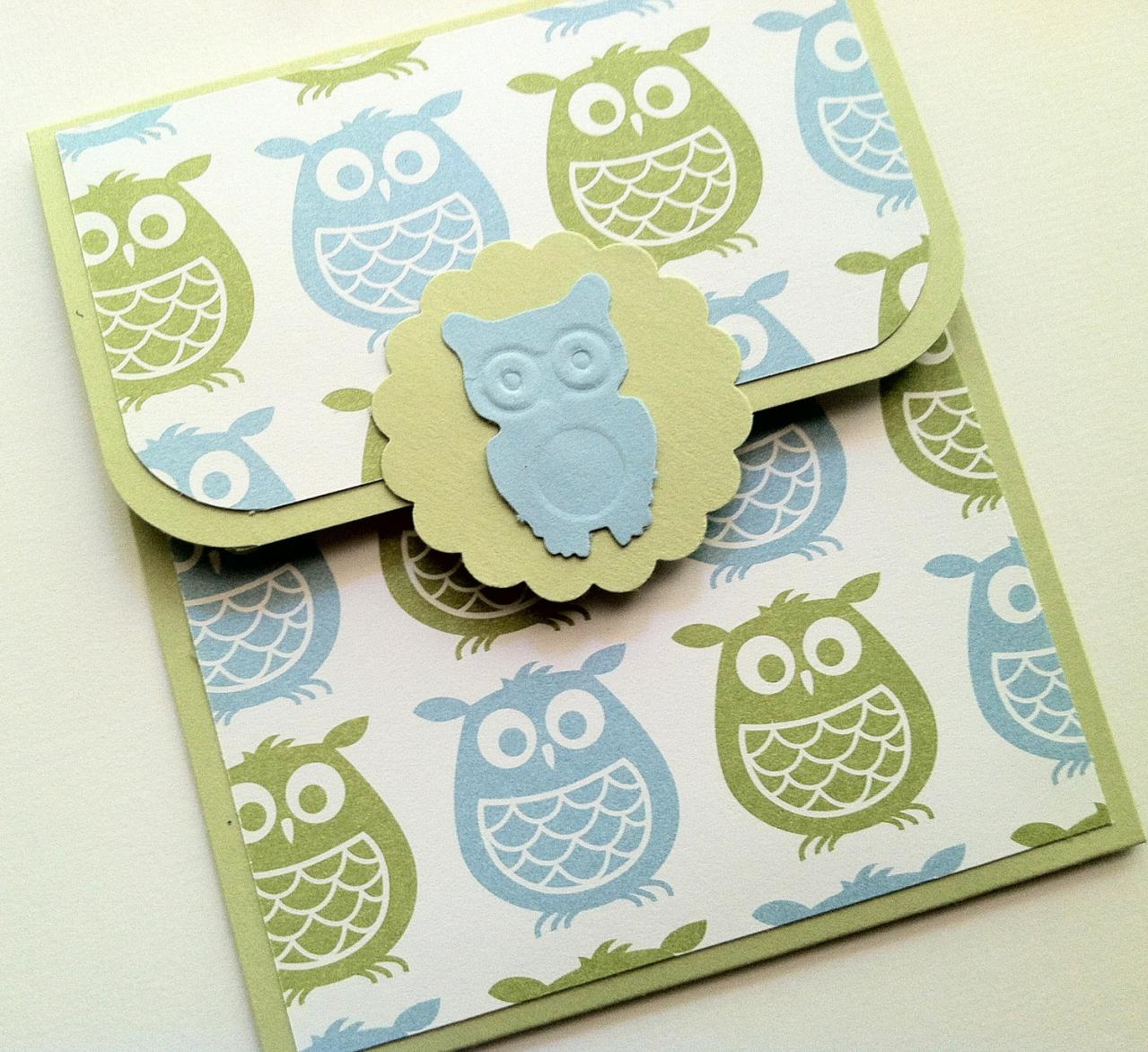 Owl Gift Card Holder, Baby Shower Gift Card Holder, Baby Boy Birthday