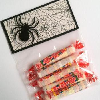 Halloween Treat Bag Toppers, Spider Treat Bags, Set of 12, Bags Included