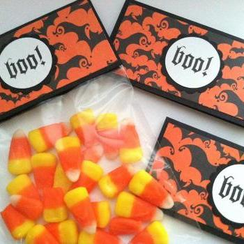 Halloween Favor Bags and Toppers - Halloween Treat Bags Set of 12