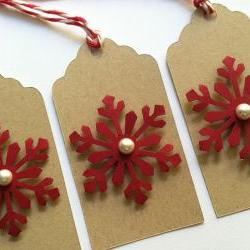 Christmas Snowflake Gift Tags, Set of 6